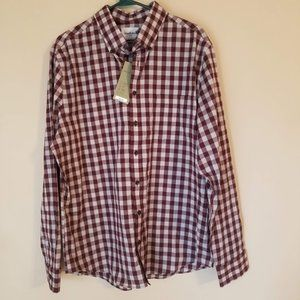 Goodfellow Checked Slim Fit Shirt, Size XL